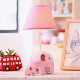 6.1*14.4in Cartoon Elephants Two Color Environmental Friendly Resin Kids Room Lamp