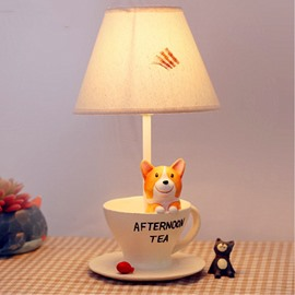 Two Pattern Environmental Friendly Resin Material 7.1*12.6in Cartoon Dog Kids Room Lamp