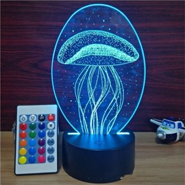 3D LED 7 Color Changing Jellyfish Table Lamp USB Night Light/Lamp
