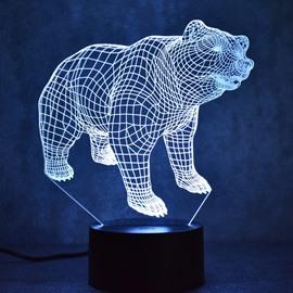 3D LED 7 Color Changing Bear Table Lamp USB Night Light/Lamp