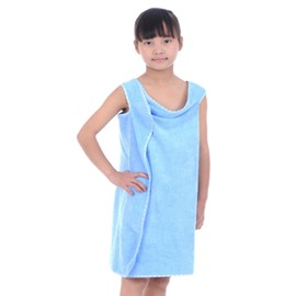 Solid Color Microfiber Children's Sling Bath Towel