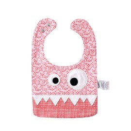 10.23*7.09 in Eyes Decoration Cute Cotton Pink Baby Bib