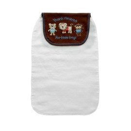 8*13in Cartoon Animals Printed Cotton White Baby Sweatband/Towel