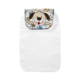 8*13in Happy Dog Printed Cotton White Baby Sweatband/Towel