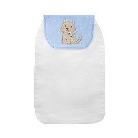 8*13in Little Cat Printed Cotton White Baby Sweatband/Towel