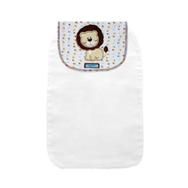 8*13in Cartoon Lion Printed Cotton White Baby Sweatband/Towel