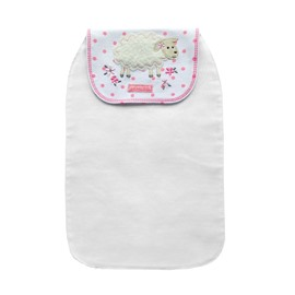 8*13in Sheep Printed Cotton White Baby Sweatband/Towel