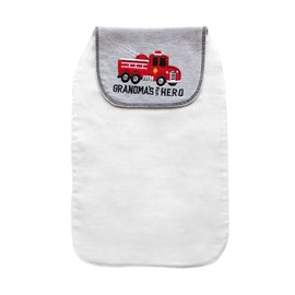 8*13in Big Truck Printed Cotton White Baby Sweatband/Towel