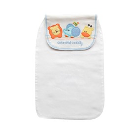 8*13in Animals Printed Cotton White Baby Sweatband/Towel
