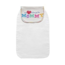 8*13in Mommy Printed Cotton White Baby Sweatband/Towel