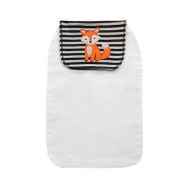 8*13in Fox Printed Cotton White Baby Sweatband/Towel