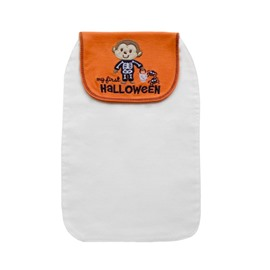 8*13in Monkey and Halloween Printed Cotton White Baby Sweatband/Towel