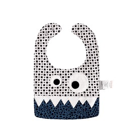 10.23*7.09in Eyes Decoration Stars Printed Cute Cotton Blue Baby Bib