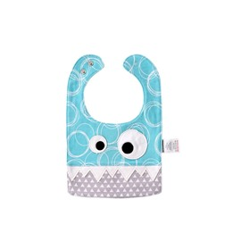 10.23*7.09in Eyes Decoration Cute Cotton Blue Baby Bib