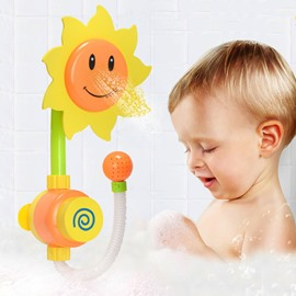 Sunflower Shape Plastic Yellow Baby Shower Head