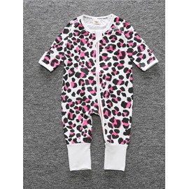 3 Pattern For Choice Long Sleeve Cotton Material Zipper Infant Jumpsuit/ Baby Bodysuit