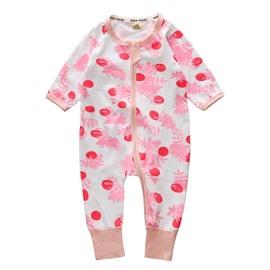 Long Sleeve Cotton Material 2 Pattern Zipper Infant Jumpsuit/ Baby Bodysuit