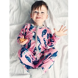 Long Sleeve Cotton Material Red Bird Pattern Zipper Infant Jumpsuit/ Baby Bodysuit