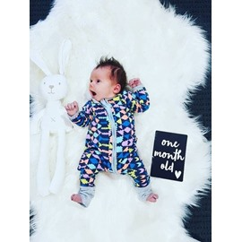 Cotton Material Long Sleeve Colorful Pattern Zipper Infant Jumpsuit/ Baby Bodysuit