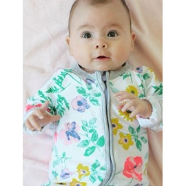 Cotton Material Long Sleeve Colorful Shivering Infant Jumpsuit/ Baby Bodysuit