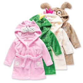 Flannel Cartoon Animal Model Kids Robes