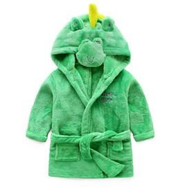 Little Dinosaur Shaped Polyester Green 1-Piece Kids Robe