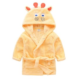 Deer Shaped Polyester Yellow 1-Piece Kids Robe