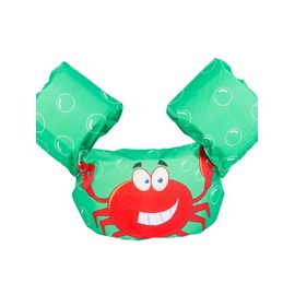 Float Crab Pattern Non-Woven Fabrics Green Kids Swimwear