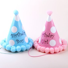Lovely Polka Dot Pattern Baby Birthday Hat Decoration