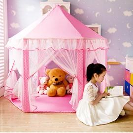 Lace Polka Dots Hex-angular Pink Kids Indoor Tent