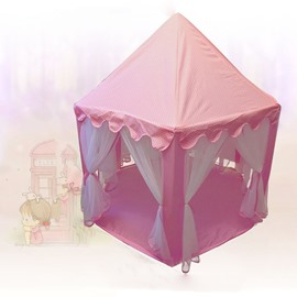 Polka Dots Cotton and Net Pink Kids Indoor Tent
