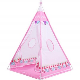 Lovely Triangles Pattern Pink Kids Indoor Tent Tepee