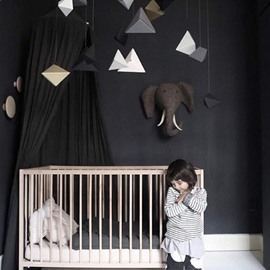 Cool Signature Cotton Fabric Black Kids Canopy