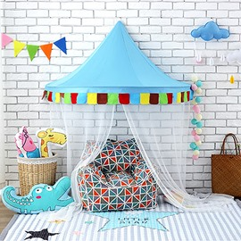 Interesting And Colorful Kids Room Reading Nook Playroom Decor Cotton Bed Canopy