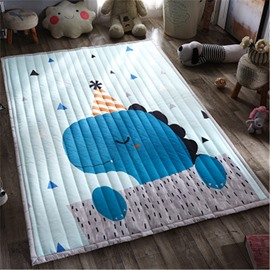 Little Dinosaur Pattern Rectangular Meryl Blue Baby Play Floor Mat/Crawling Pad