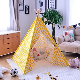 Nordic Style Canvas Yellow Kids Room Indoor Tent