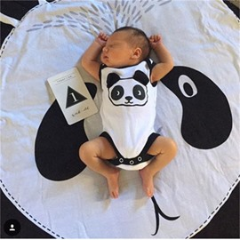 Panda Rounded Cotton Baby Play Floor Mat/Crawling Pad