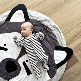 Fox Shaped Cotton White Baby Play Floor Mat/Crawling Pad