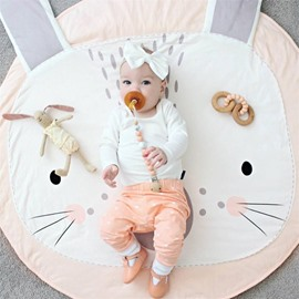 Cute Cartoon Rabbit Pattern 2 Color Soft Baby Play Floor Mat/Crawling Pad