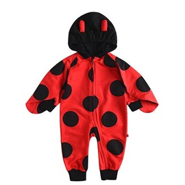 Trendy and Warm Ladybird Shape Hooded Baby Costume