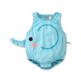 Cute Light Blue Elephant Shape Baby Costume