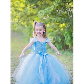 Cinderella Style Light Blue Princess Dress Girl' Costume