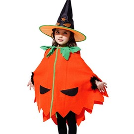 Halloween Style Pumpkin Pattern Children Costume