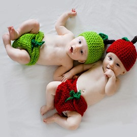 Creative Chili Design Knit Baby Cloth Photo Prop
