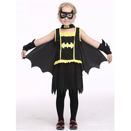 halloween bat shape polyester and net cloth black s costume
