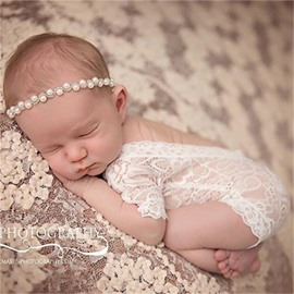 Christmas Lace Simple Style Black and White Baby Costume