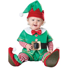 Santa Shaped Belt Decoration Polyester Green Baby Costume
