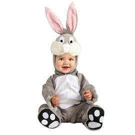 Rabbit Shaped Ears Decoration Polyester Gray Baby Costume
