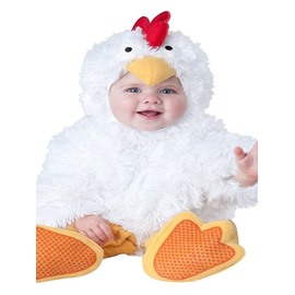 Chick Shaped Cute Style Polyester White Baby Costume