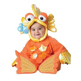 Golden Fish Shaped Polyester Orange Baby Costume